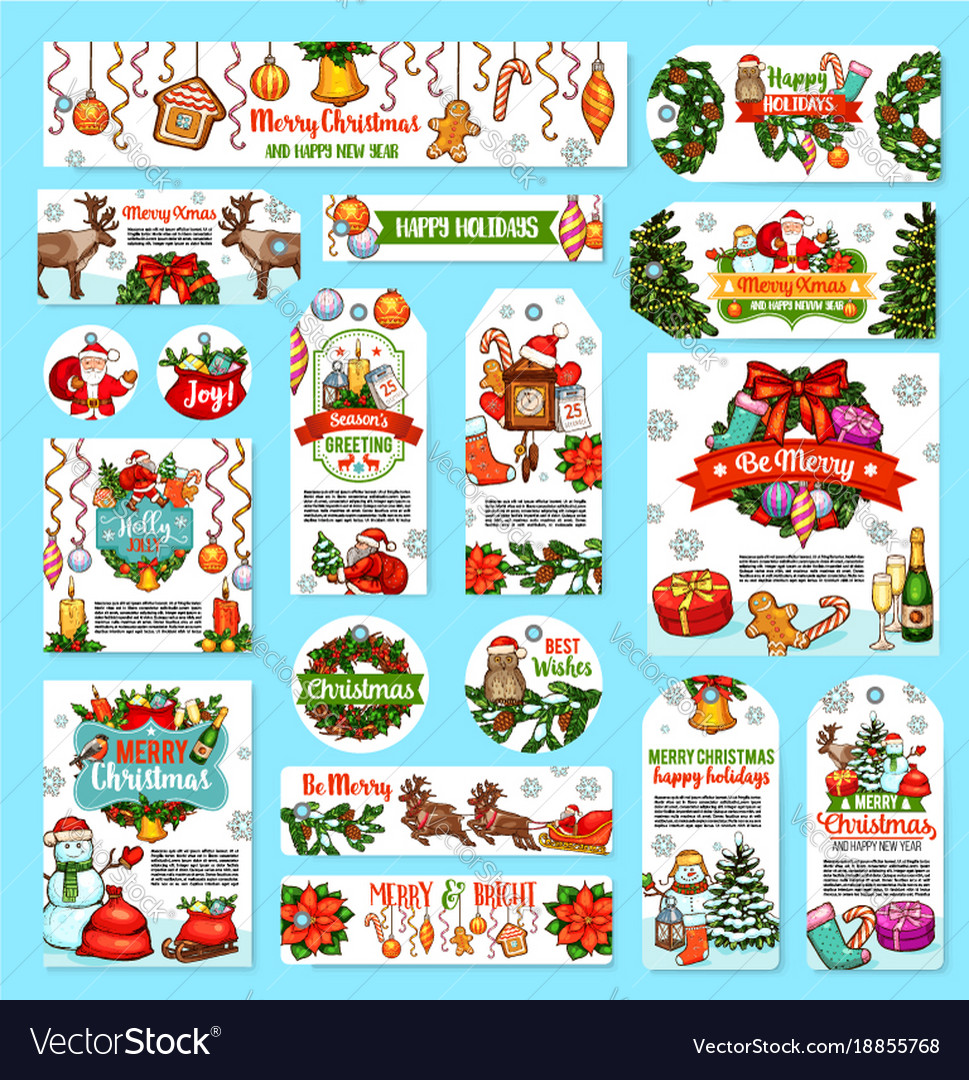 Christmas holidays wishes greeting cards
