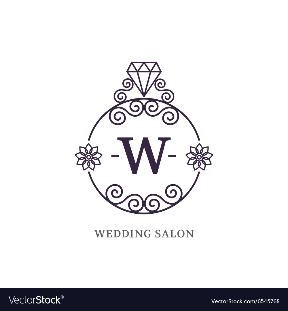 Elegant wedding monogram Royalty Free Vector Image