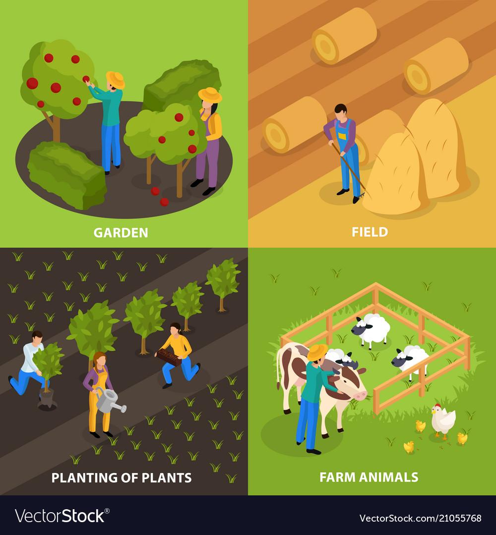 Farmers life design concept