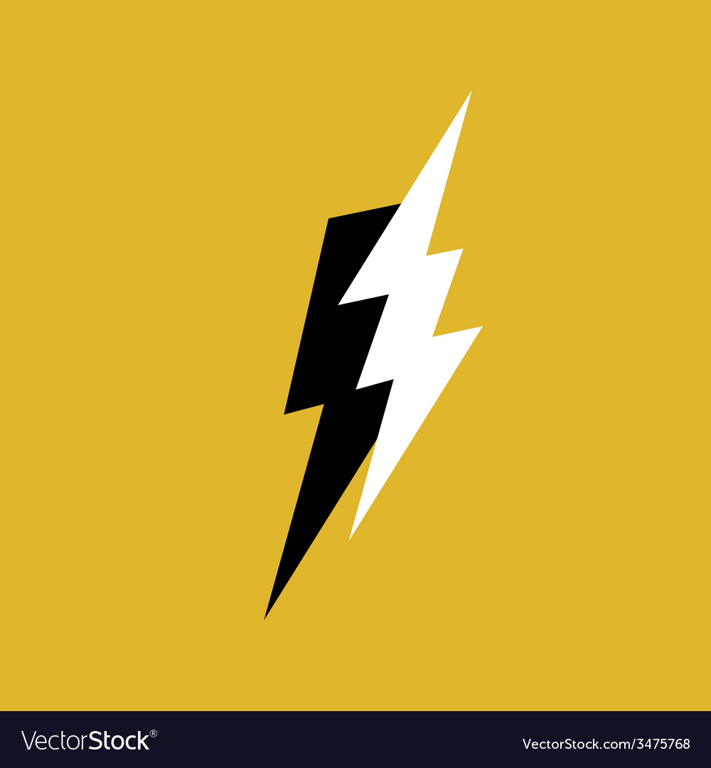 lightning bolt royalty free vector image vectorstock rh vectorstock com lighting bolt vector file lighting bolt vector file