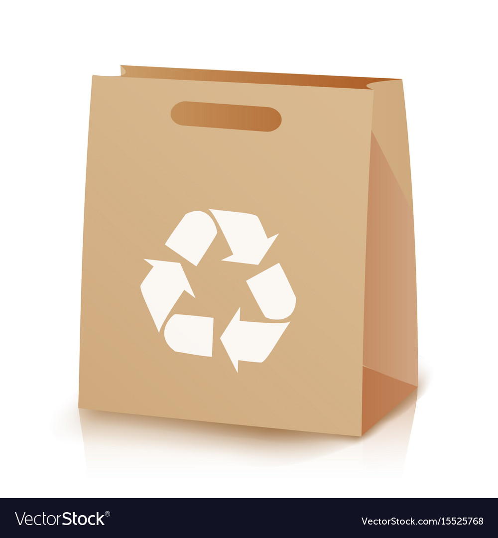 Recycle shopping brown bag of