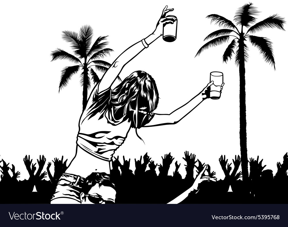 Tropical Dance Party vector image
