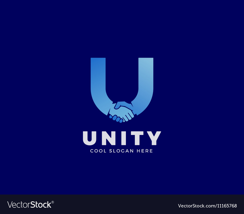 Unity Abstract Sign Symbol or Logo vector image