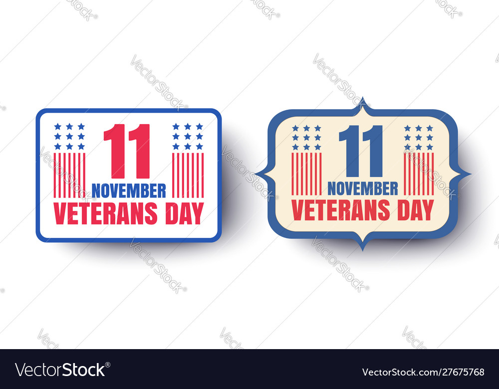 Vintage banners for veterans day