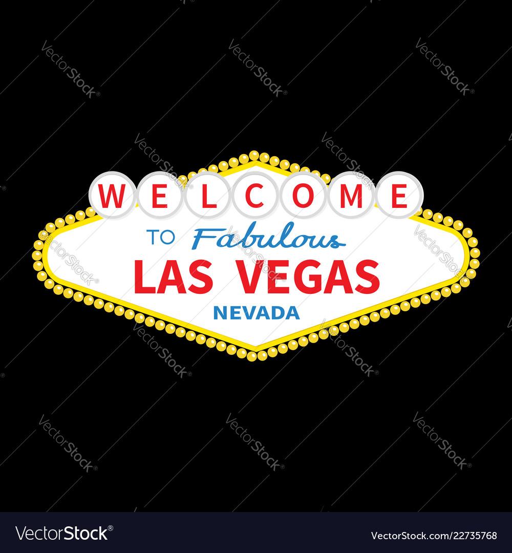 Welcome to las vegas sign icon classic retro