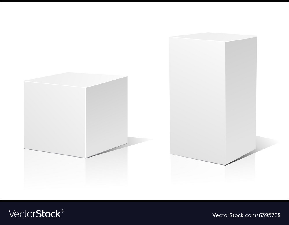 White 3D box vector image