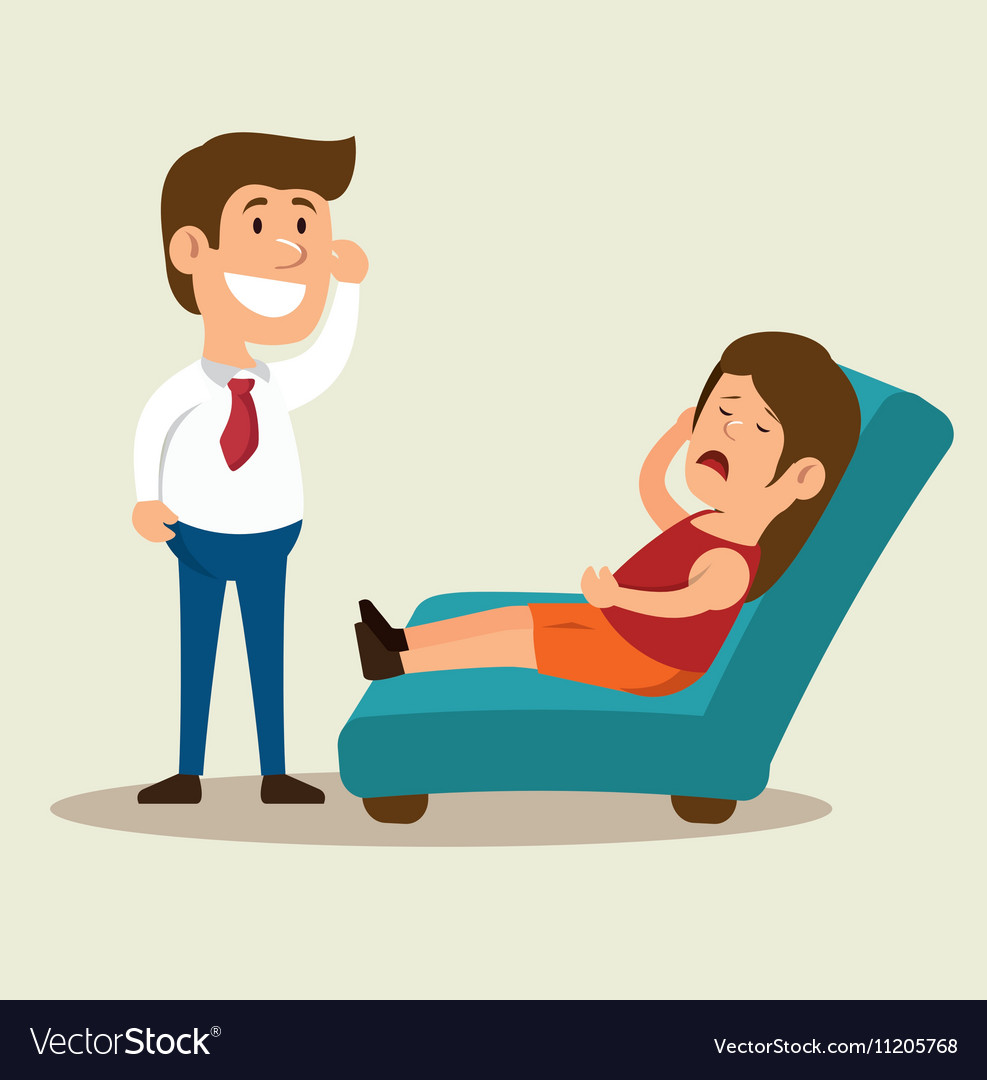 Woman Cartoon Mental Counseling Therapist Vector Image