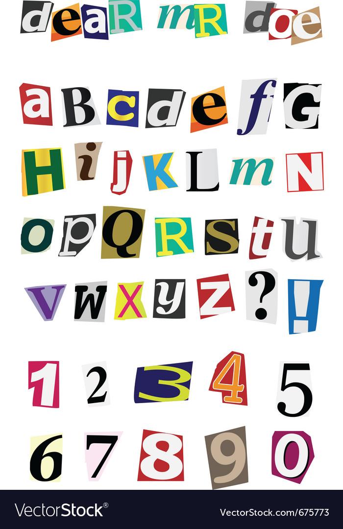 Anonymous alphabet vector image