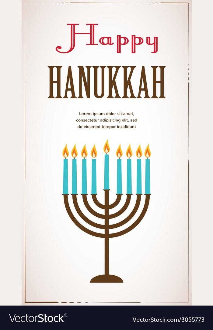 Happy Hanukkah Greeting Card Design Jewish Holiday