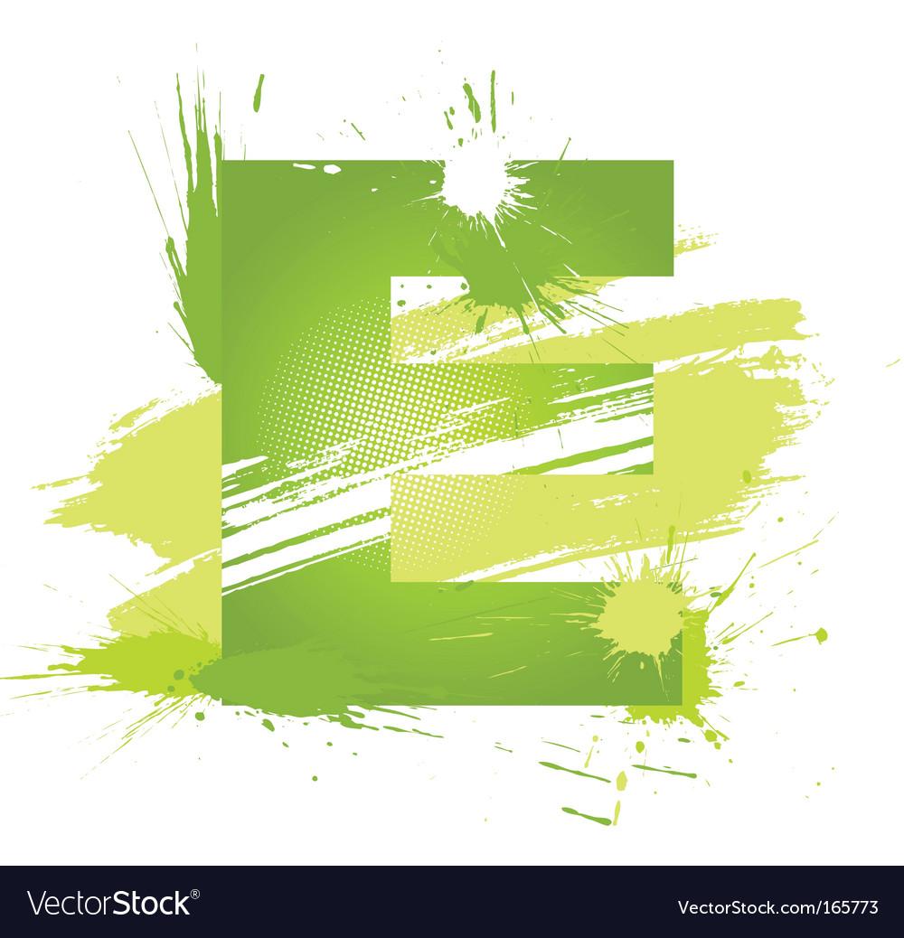 Letter E background