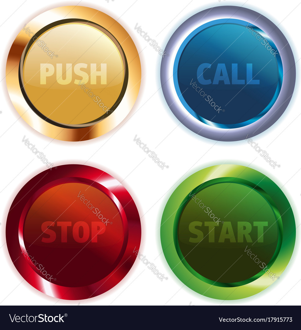 Metal colorful round buttons