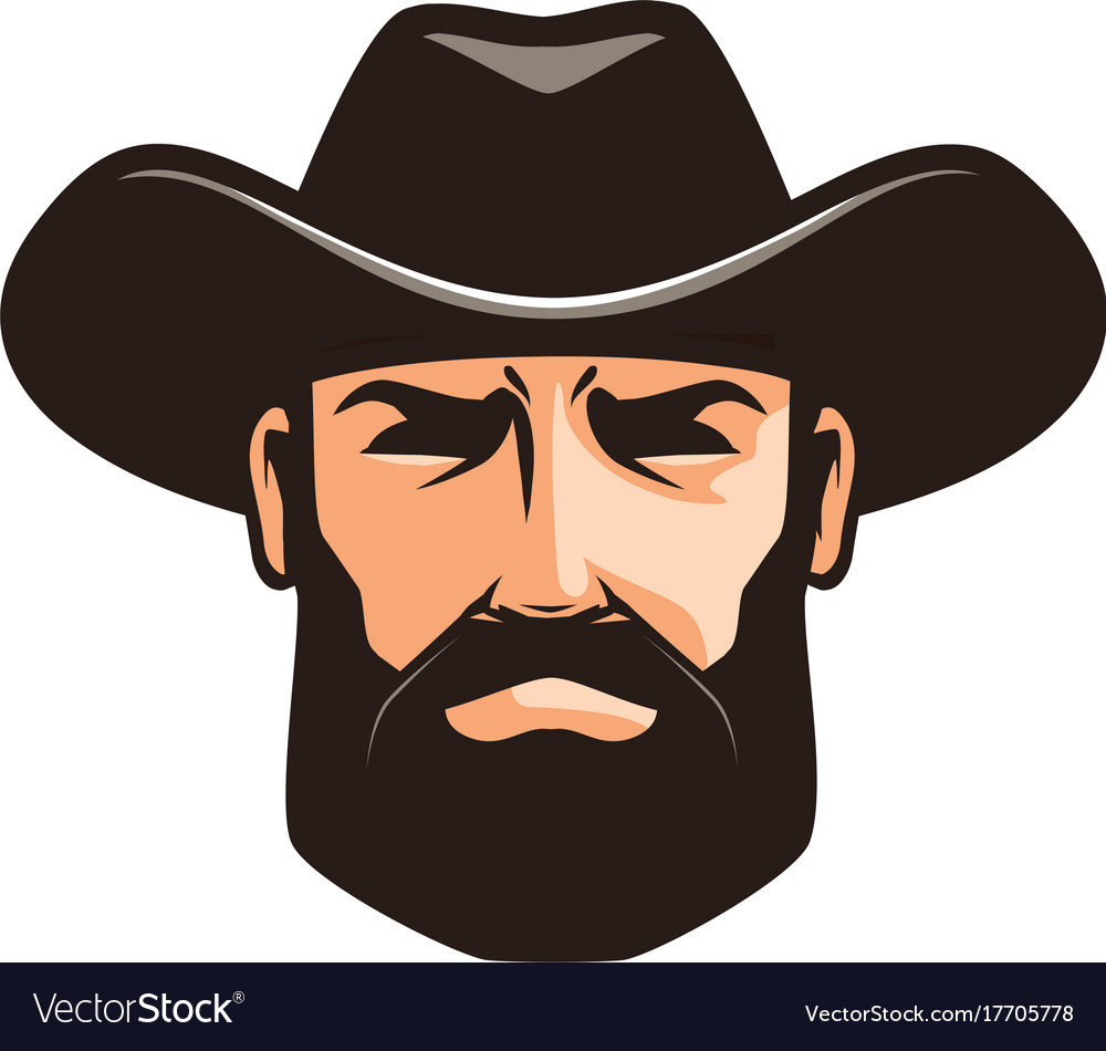 American cowboy logo or label sheriff wrangler vector image