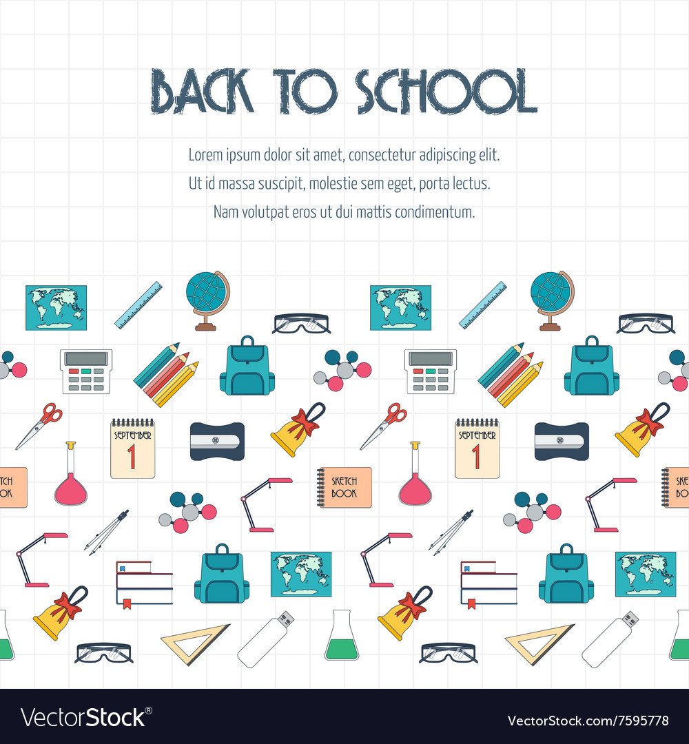 Back to school banner background poster concept