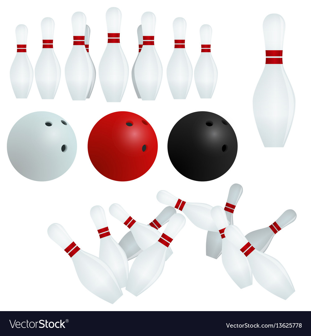 Isolated skittles white red black balls on vector image
