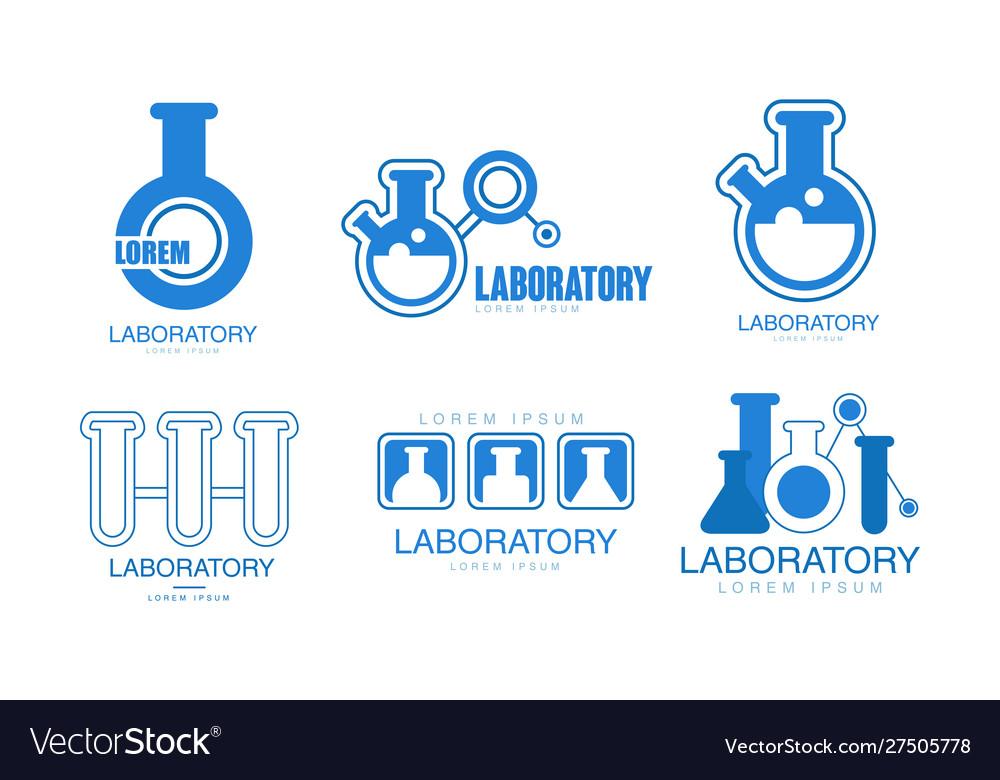 Laboratory logos collection medicine