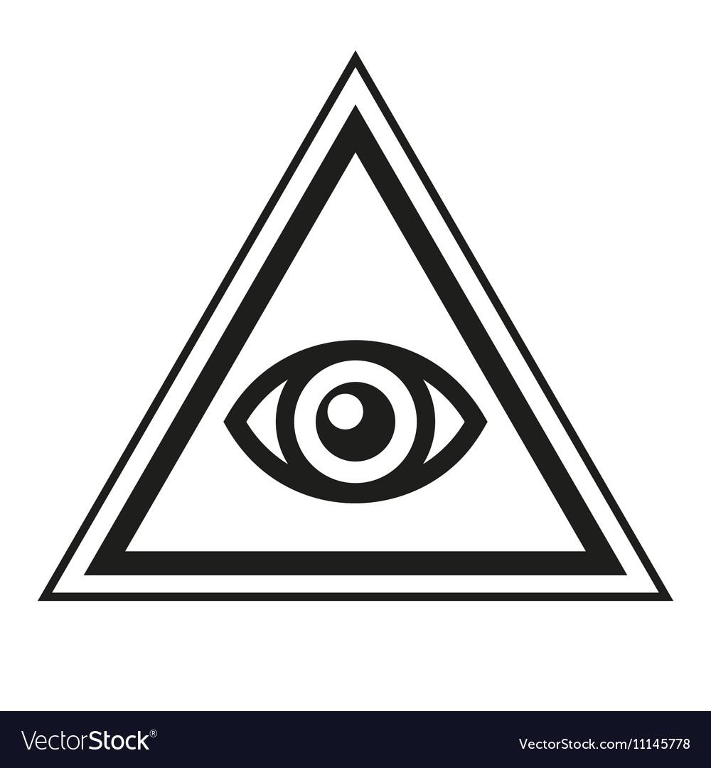Masonic Symbol All Seeing Eye Inside Pyramid Vector Image