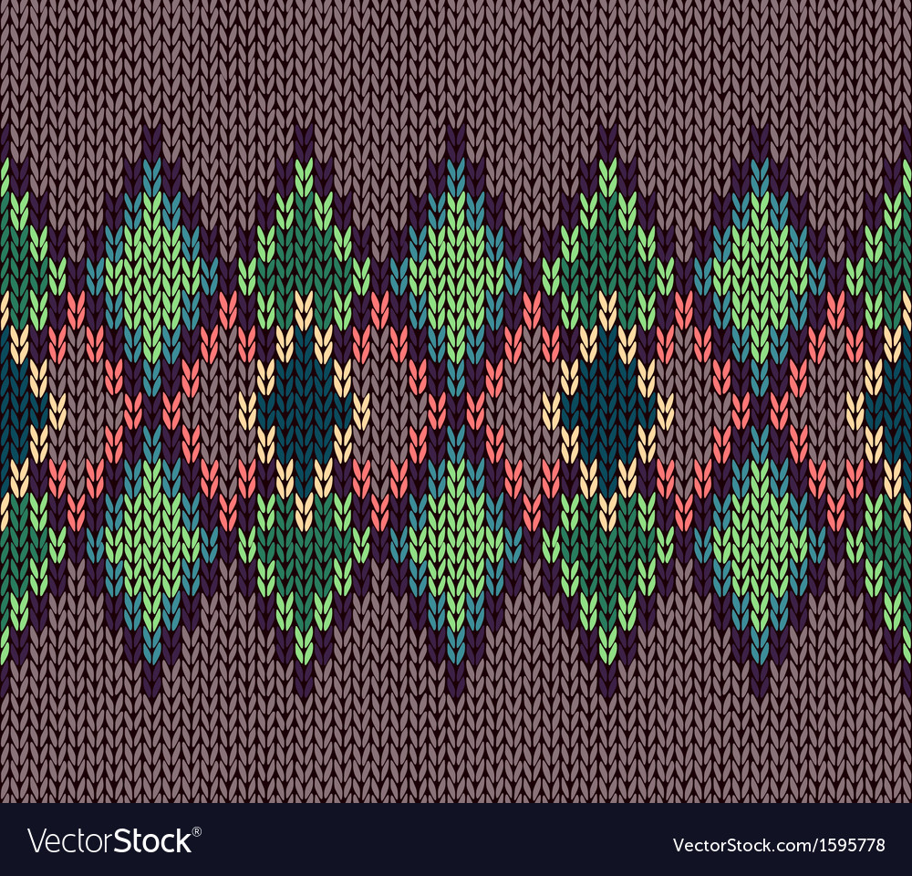 Seamless color knitted ornament pattern