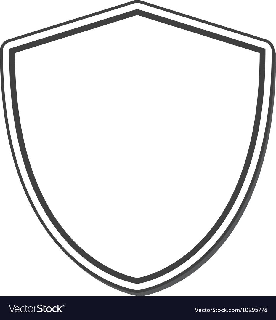 Shield frame security label design Royalty Free Vector Image
