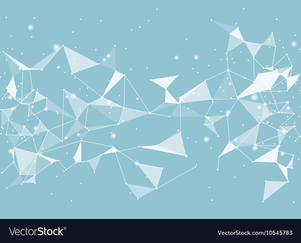 Abstract black background low poly style