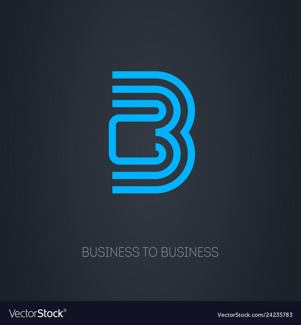 B2b logo busines-to-busines logotype concept