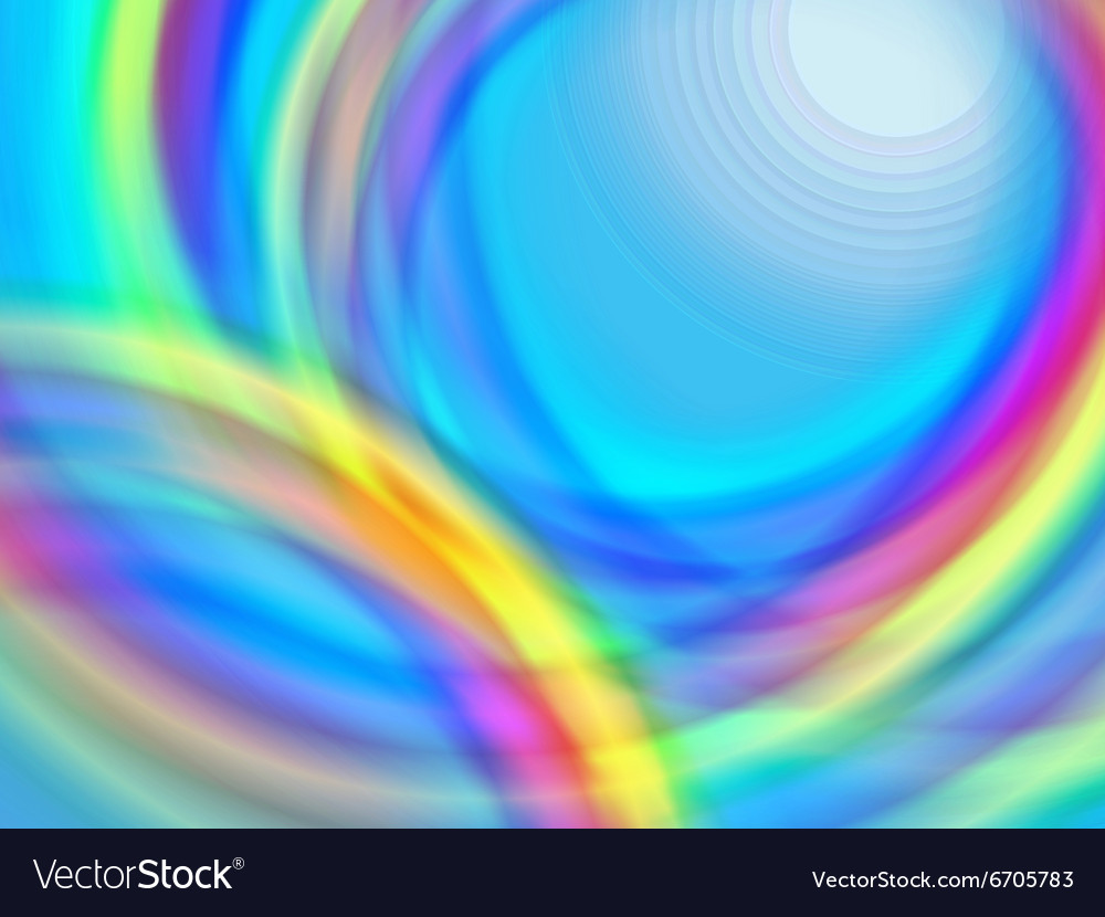 Blurred circles vector image