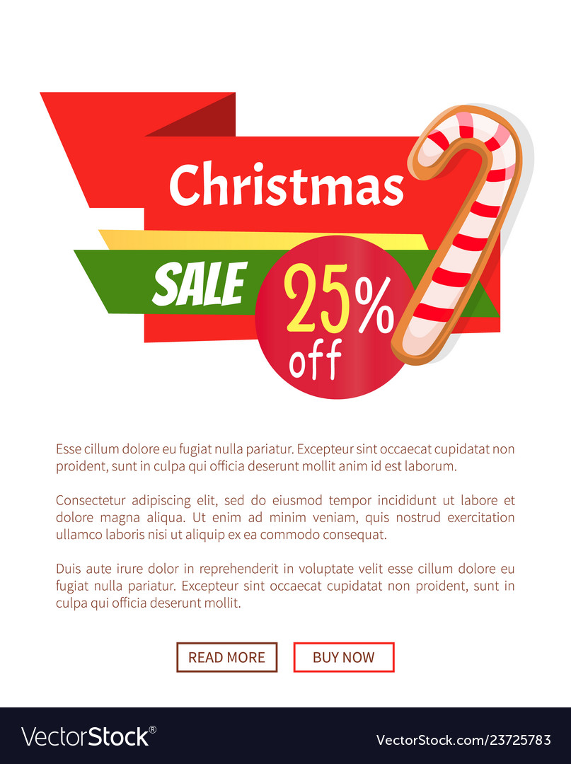 Candy striped stick on web poster christmas