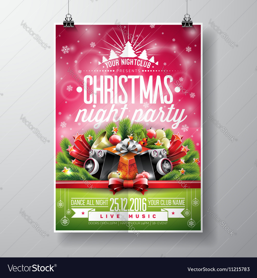 Christmas party with typography