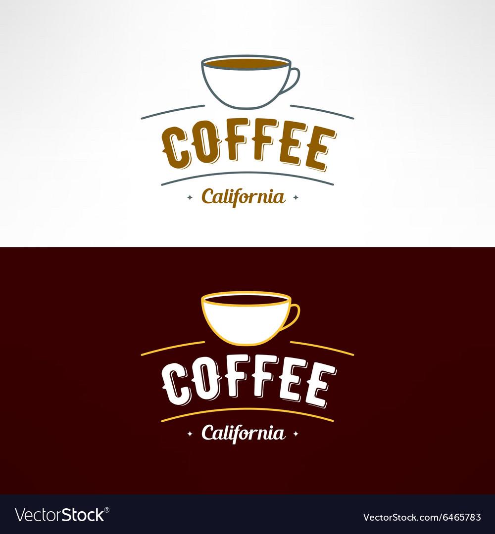 Coffee shop logo Restaurant menu design vector image