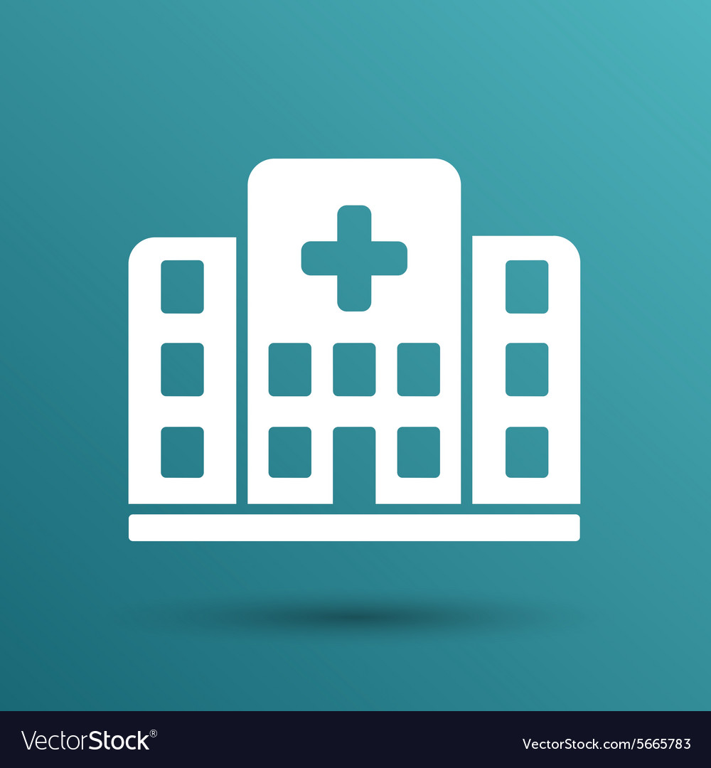 Hospital icon cross building isolated human