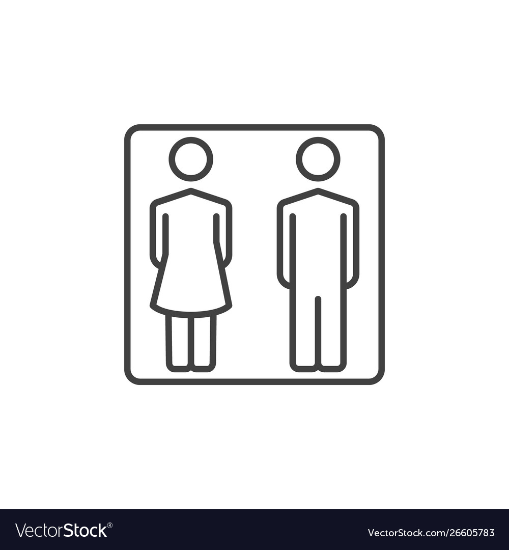 Man and woman outline icon - wc or toilet