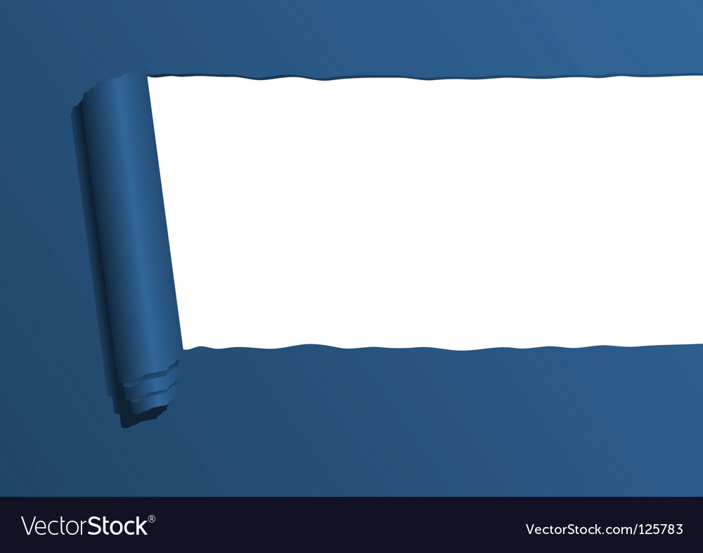 Ripped paper sheet vector image