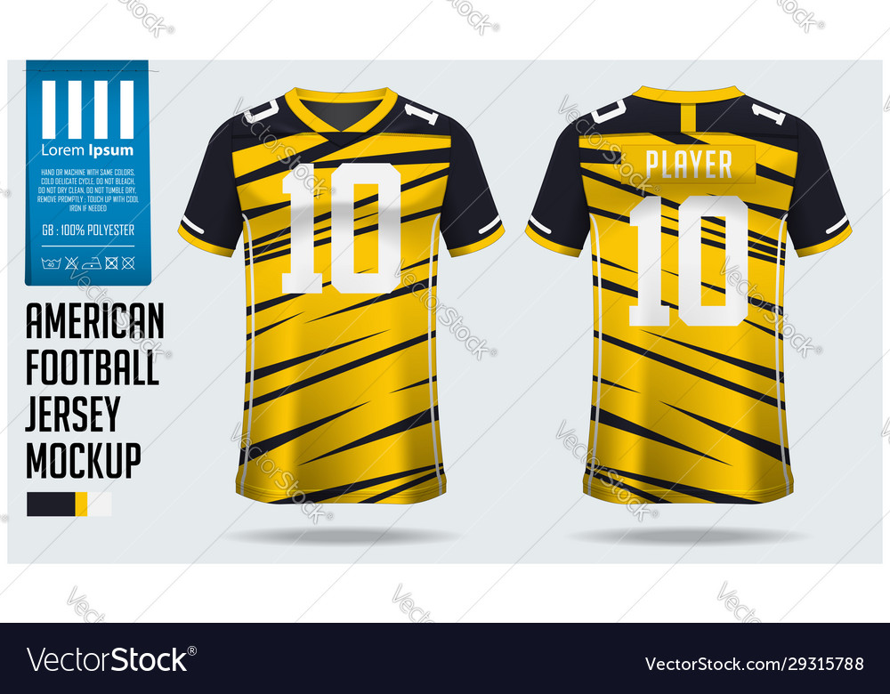 Download American Football Jersey Mockup Template Design Vector Image Free Mockups