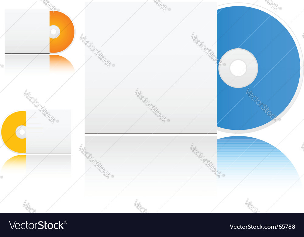 Cd with box vector image