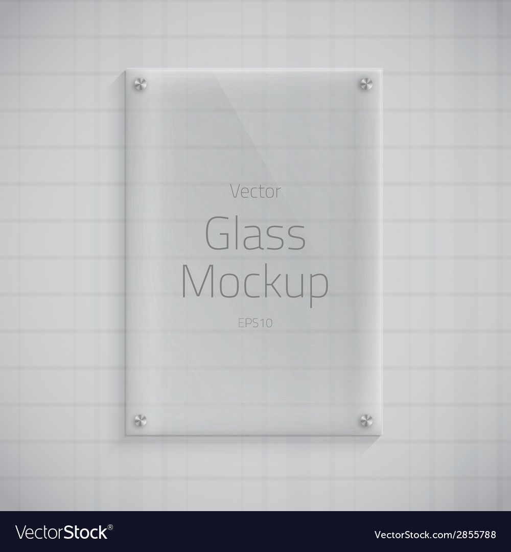 Glass Plate Mockup Background vector image
