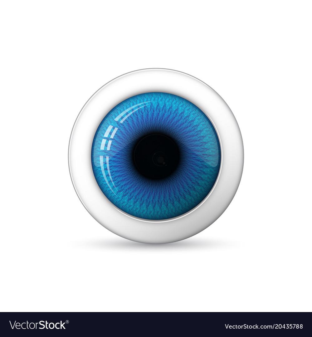 Glossy 3d eye