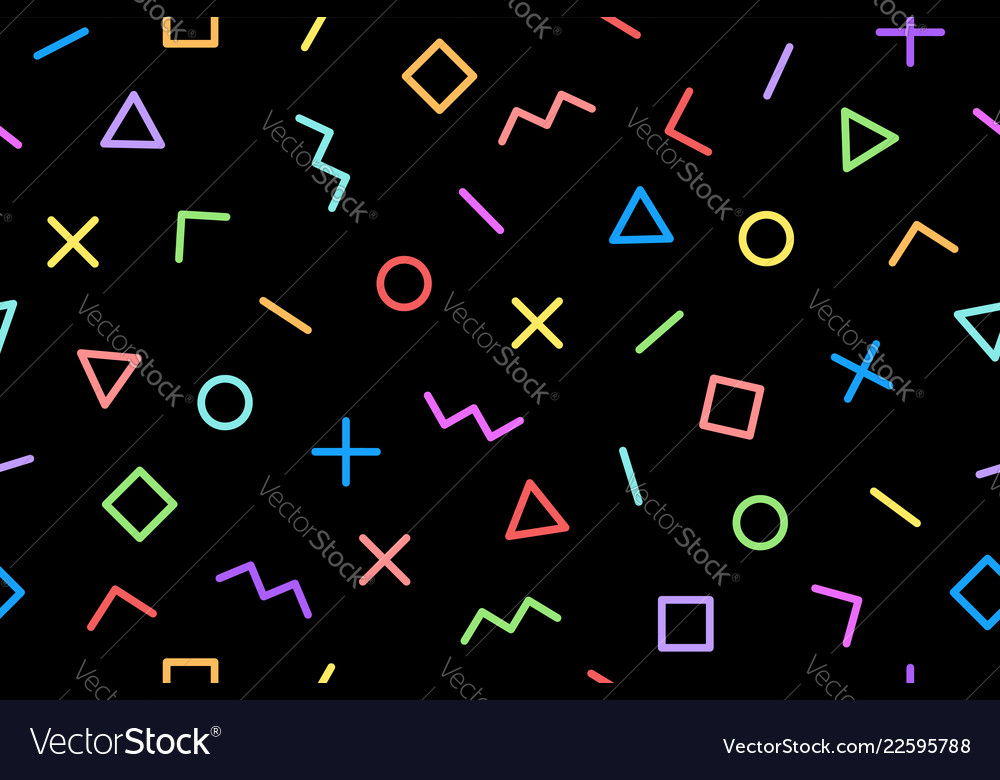 Pattern seamless memphis geometric graphic