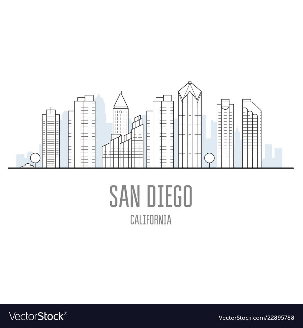 San diego city skyline - skyscrapers and