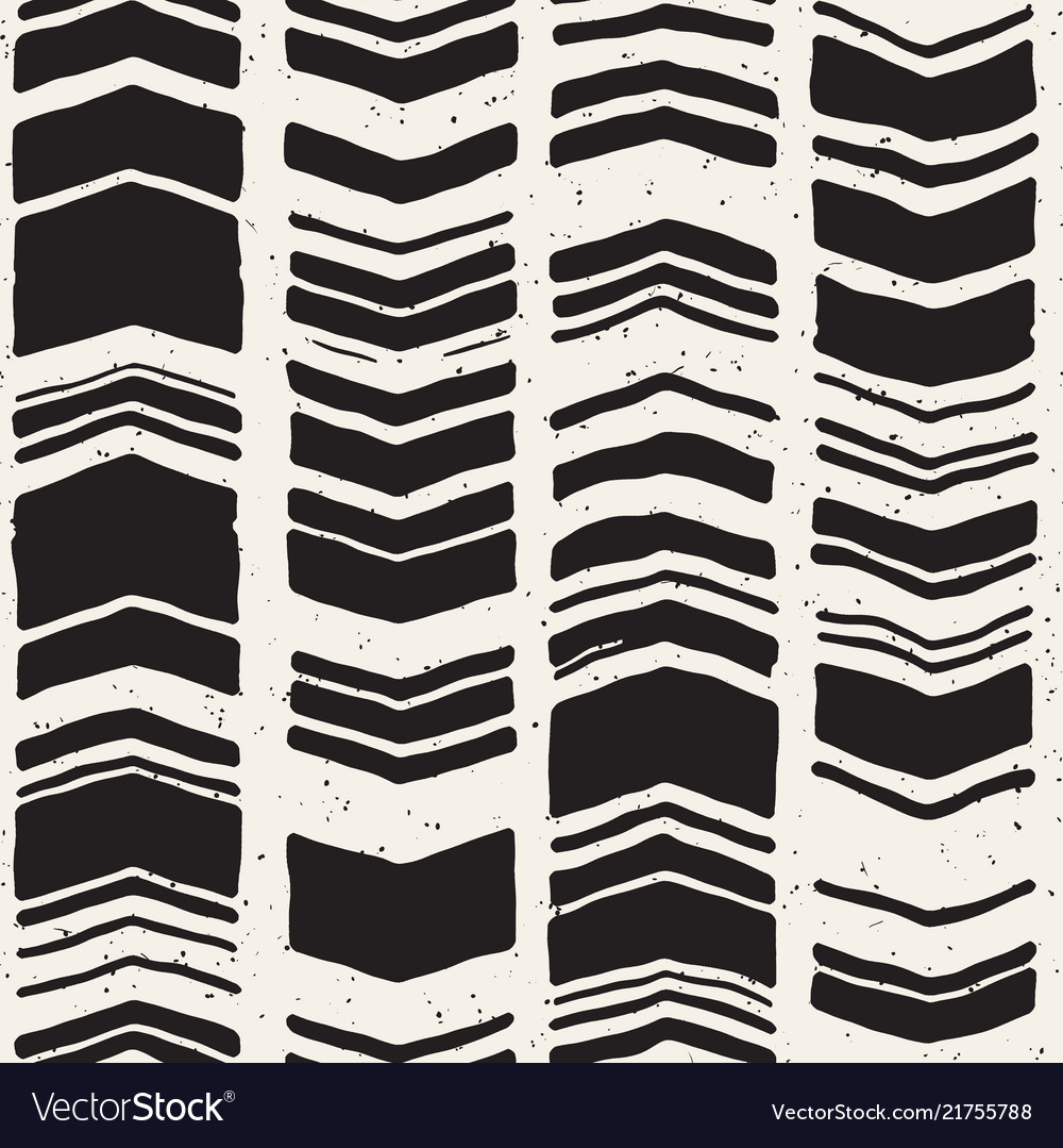 Seamless freehand pattern doodle monochrome print