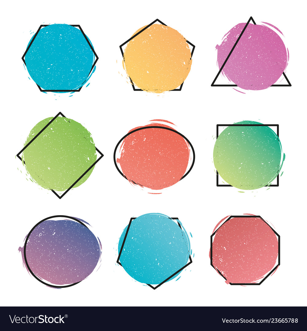 Set of modern abstract banners geometric shapes