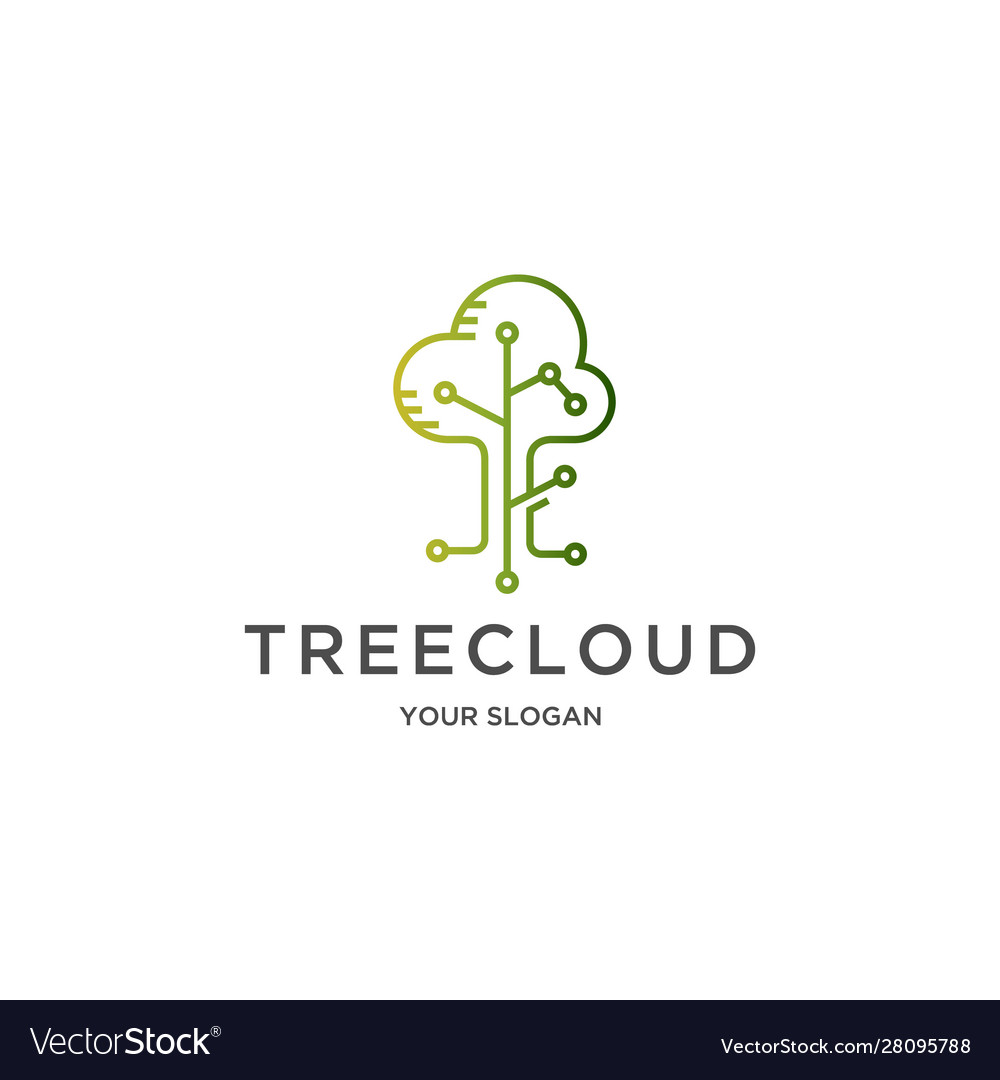 Tree cloud logo