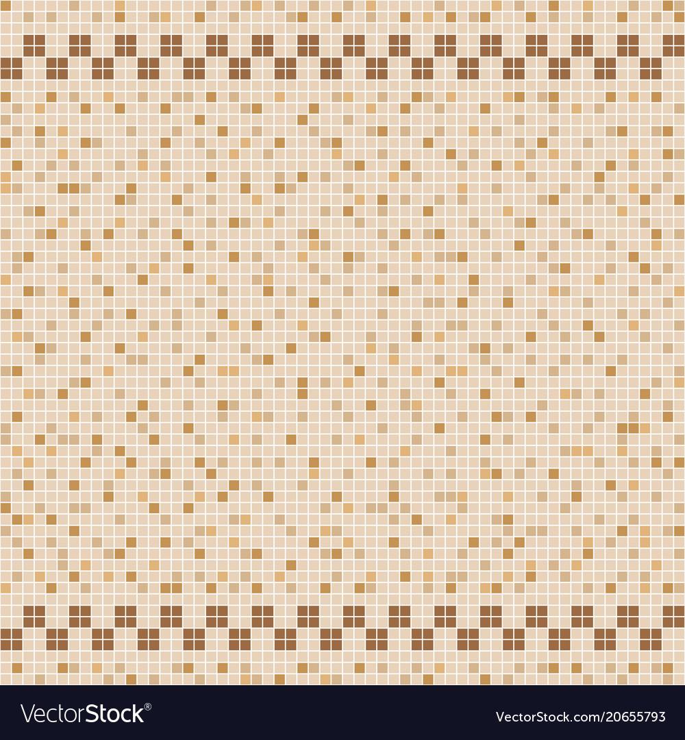 Beige ceramic tile mosaic in swimming pool