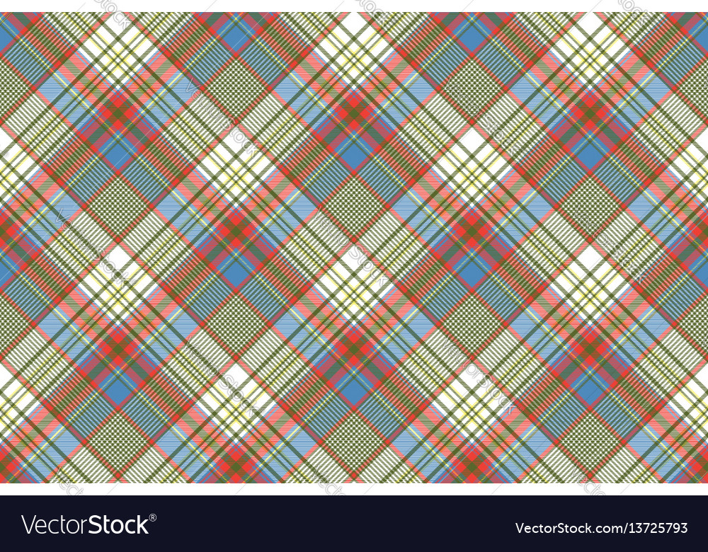 Coloured plaid shirting diagonal seamless fabric