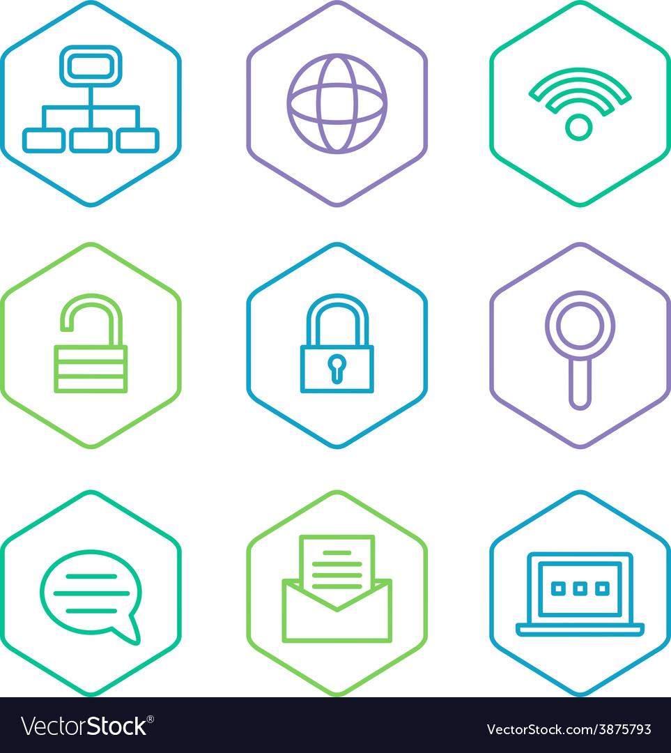 Data analytics icons set big data concept icons