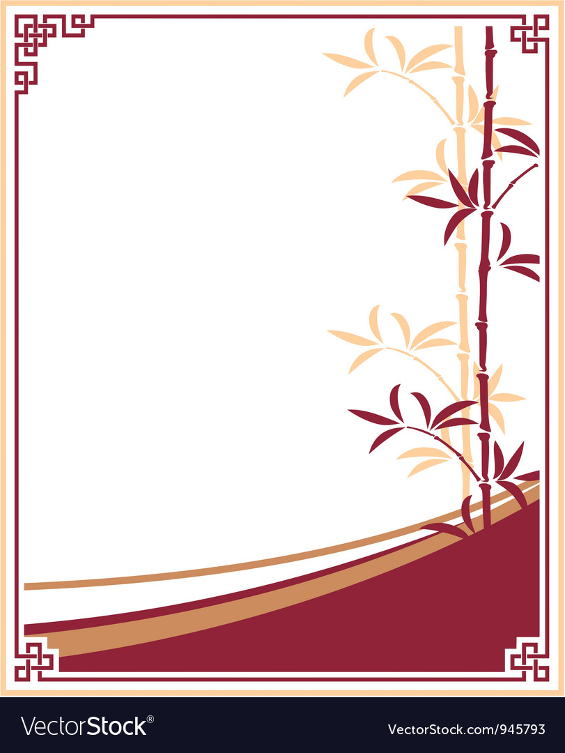 Oriental Chinese Template Frame Royalty Free Vector