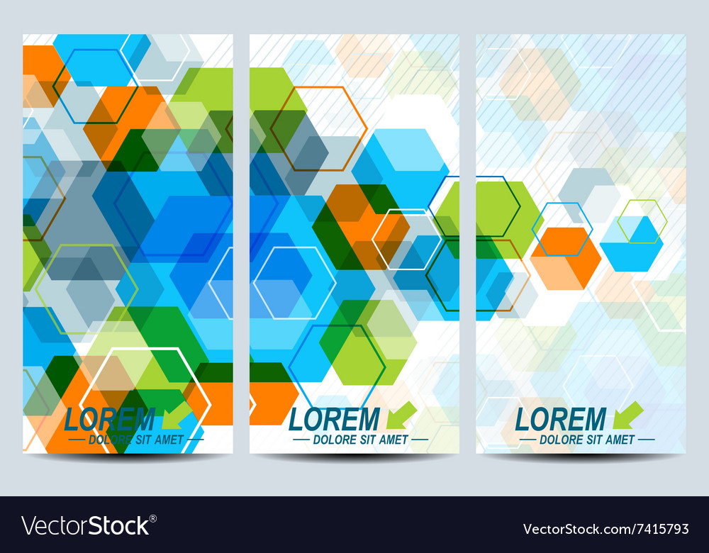 set of the flyers background with royalty free vector image
