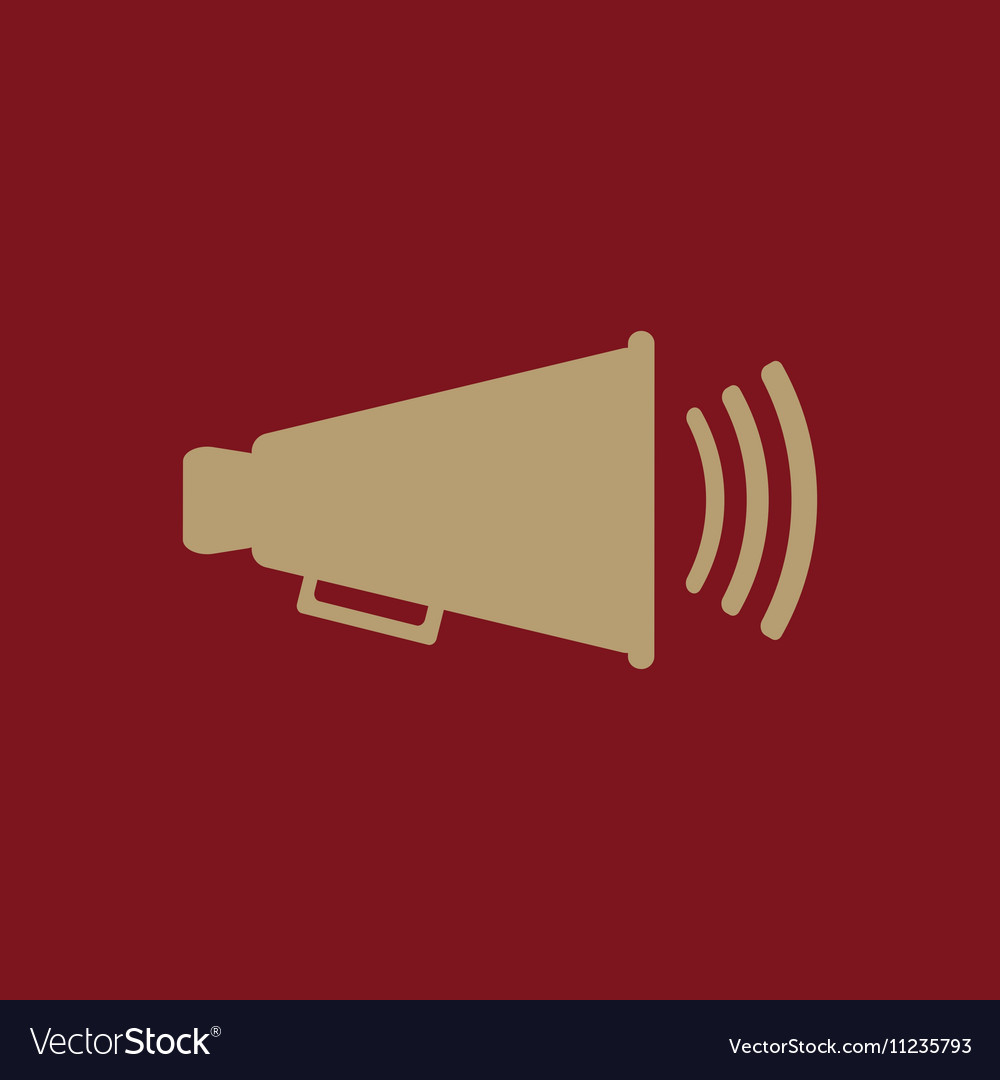 The megaphone icon Bullhorn symbol Flat
