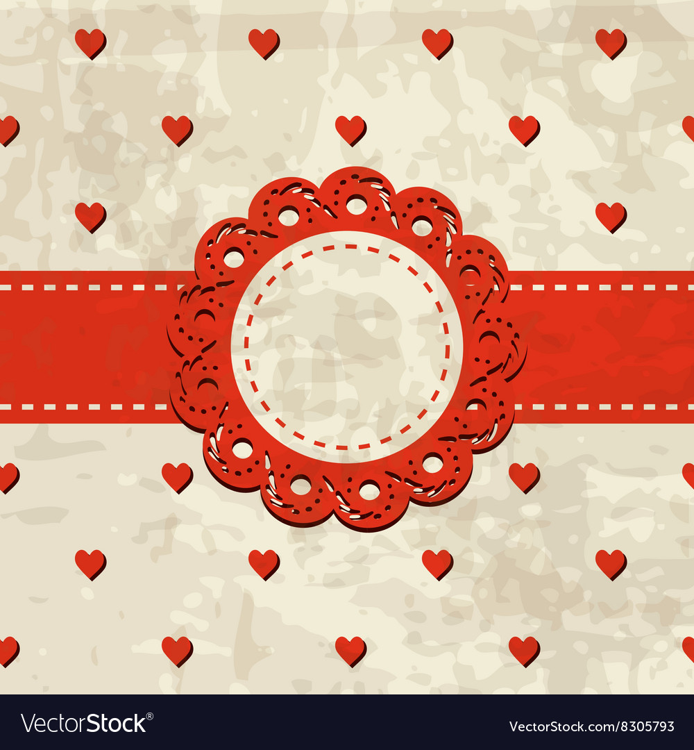 Vintage background with a frame