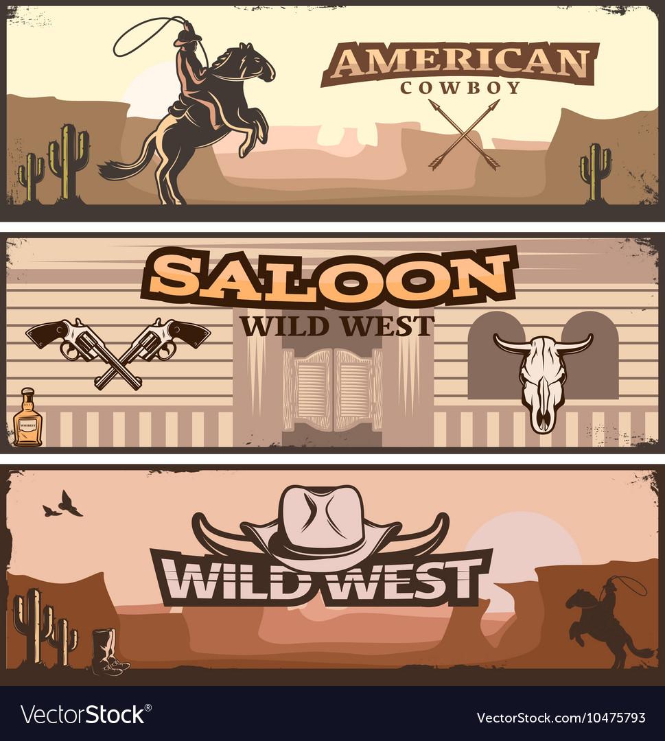 Wild West Banner Set