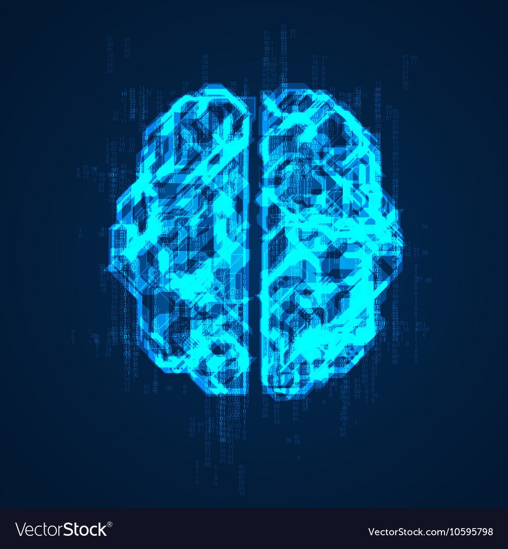 Brain preview vector image