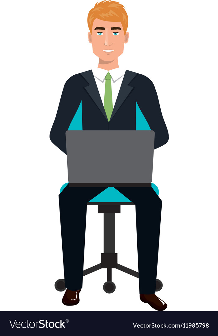 Business Person Sitting On Office Chair Royalty Free Vector